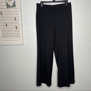 St John Dress Pants Wide Leg Dark Gray 6 Career